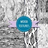 Conjunto de madera de la textura modelo seampless Foto de archivo