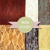 Conjunto de madera de la textura modelo seampless Foto de archivo libre de regalías
