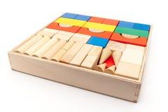 Conjunto de madera del juguete Fotos de archivo libres de regalías