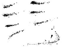 Conjunto de manchas blancas /negras de la tinta Fotografía de archivo libre de regalías