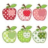 Conjunto de manzanas del remiendo Fotografía de archivo