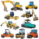 Conjunto de maquinaria de construcción Fotografía de archivo