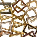 Conjunto de marcos del oro Imágenes de archivo libres de regalías
