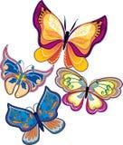 Conjunto de mariposas - vector Fotografía de archivo libre de regalías
