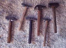 Conjunto de martillos imágenes de archivo libres de regalías