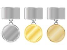 Conjunto de medallas Imagenes de archivo