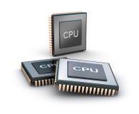 Conjunto de microprocesadores Imagen de archivo