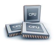 Conjunto de microprocesadores Imágenes de archivo libres de regalías