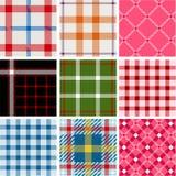 Conjunto de modelos de la tela escocesa Fotos de archivo libres de regalías