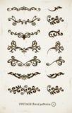 Conjunto de modelos decorativos de la vendimia Fotos de archivo