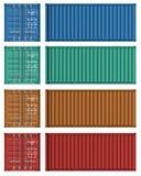 Conjunto de modelos del contenedor para mercancías Imagen de archivo
