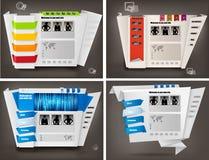 Conjunto de modelos del diseño del Web site del asunto. Vector stock de ilustración
