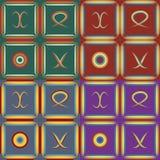Conjunto de modelos inconsútiles Foto de archivo libre de regalías
