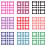Conjunto de modelos inconsútiles coloreados Foto de archivo