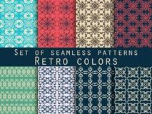 Conjunto de modelos inconsútiles Modelos geométricos El modelo para el papel pintado, las tejas, las telas y los diseños stock de ilustración