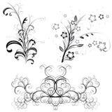 Conjunto de modelos y de ornamentos libre illustration