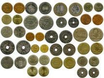 Conjunto de monedas Foto de archivo libre de regalías