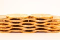 Conjunto de monedas Imagenes de archivo