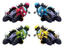 Conjunto de motos del vector Foto de archivo libre de regalías