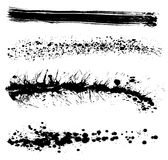 Conjunto de movimientos sucios de la pintura Fotografía de archivo libre de regalías