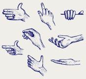 Conjunto de muchas diversas manos libre illustration