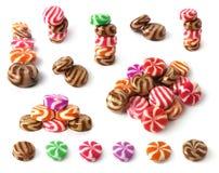 Conjunto de muchos dulces del colorfull Fotografía de archivo