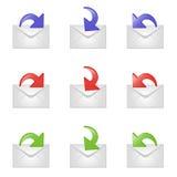 Conjunto de muestras del email libre illustration
