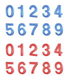 Conjunto de números Foto de archivo