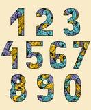 Conjunto de números Imagenes de archivo