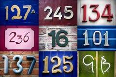 Conjunto de números de la calle Foto de archivo libre de regalías