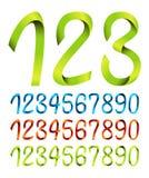 Conjunto de números de la cinta Imagenes de archivo
