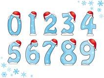 Conjunto de números de la Navidad Imagen de archivo libre de regalías