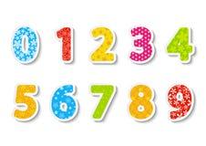 Conjunto de números del color Fotografía de archivo libre de regalías