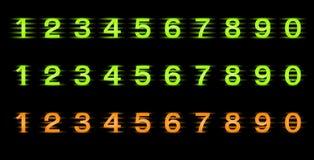 Conjunto de números del vector Imágenes de archivo libres de regalías