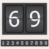 Conjunto de números en un horario Imagen de archivo libre de regalías