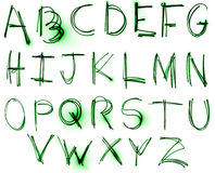 Conjunto de neón del alfabeto Imagen de archivo