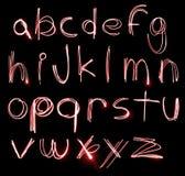 Conjunto de neón del alfabeto Foto de archivo