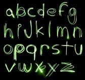 Conjunto de neón del alfabeto Foto de archivo libre de regalías