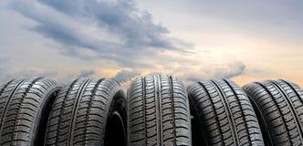 Conjunto de neumáticos Foto de archivo libre de regalías