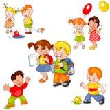 Conjunto de niños Imágenes de archivo libres de regalías