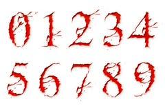 Conjunto de números del líquido de la sangre Fotografía de archivo