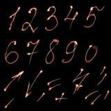 Conjunto de números del vector Fotografía de archivo