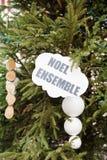 Conjunto de Noel, la Navidad junto Francia, Alsacia Fotografía de archivo libre de regalías