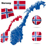 Conjunto de Noruega. Fotos de archivo libres de regalías