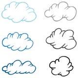 Conjunto de nubes ilustración del vector