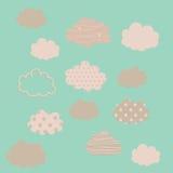 Conjunto de nubes Imagenes de archivo