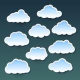 Conjunto de nubes Imagen de archivo
