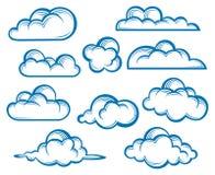 Conjunto de nubes Fotografía de archivo libre de regalías