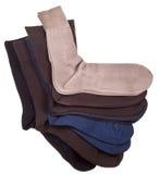 Conjunto de nuevos calcetines del algodón del men'n Imagenes de archivo