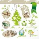 Conjunto de nuevos elementos ecológicos Imagen de archivo libre de regalías